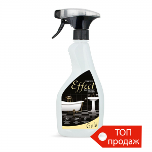 "Universal remedy for care of bathrooms ""Effect Gold"", with a spray"