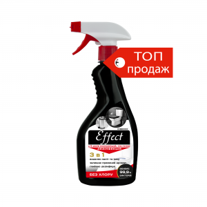 Effect cleaner for cleaning and disinfecting toilets, without chlorine